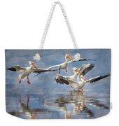 Four Pelican Landing Watercolor Effect Weekender Tote Bag
