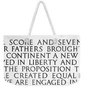 Four Score Weekender Tote Bag by Greg Fortier