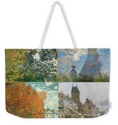Four Seasons A Collage Of Monets Weekender Tote Bag