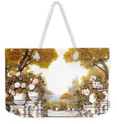 four seasons-autumn on lake Maggiore Weekender Tote Bag