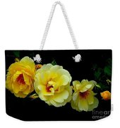 Four Stages Of Bloom Of A Yellow Rose Weekender Tote Bag