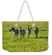 Four Zebras Weekender Tote Bag