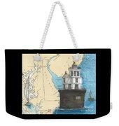Fourteen Ft Bank Lighthouse De Nautical Chart Map Art Weekender Tote Bag