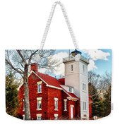 Fourty Mile Point Lighthouse Weekender Tote Bag