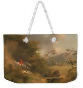 Fox Hunting In Hilly Country Weekender Tote Bag