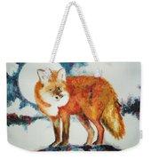 Fox In The Moon Weekender Tote Bag
