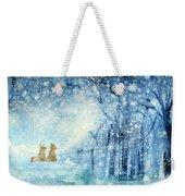 Foxes In The Snow Weekender Tote Bag