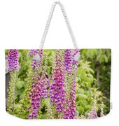 Foxglove Fence Weekender Tote Bag by Anne Gilbert