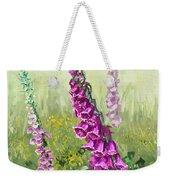 Foxglove Flower Weekender Tote Bag