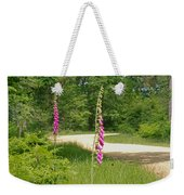 Foxgloves In New Forest Weekender Tote Bag