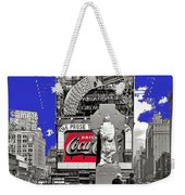 Fr. Duffy Statue Prior To Unveiling Coca Cola Sign Times Square New York City 1937-2014 Weekender Tote Bag