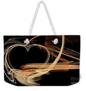 Fractal 24 Es Heart Weekender Tote Bag