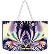 Fractal 26 Jeweled Tone Lotus Flower Weekender Tote Bag
