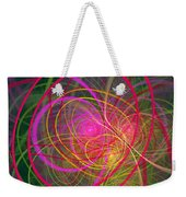 Fractal - Abstract - Loopy Doopy Weekender Tote Bag by Mike Savad