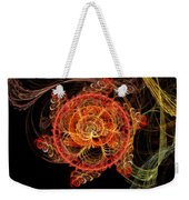 Fractal - Abstract - Mardi Gras Molecule Weekender Tote Bag