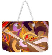 Fractal - Abstract - Space Time Weekender Tote Bag by Mike Savad