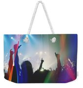 Fractal Beings 3-who Let The Show Go On Weekender Tote Bag