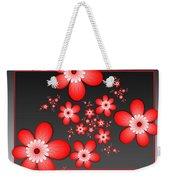 Fractal Cheerful Red Flowers Weekender Tote Bag