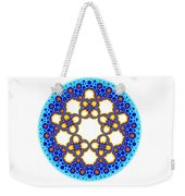Fractal Escher Winter Mandala 3 Weekender Tote Bag