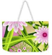 Fractal Fantasy Neon Flower Garden Weekender Tote Bag