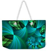 Fractal Gently Worn Weekender Tote Bag