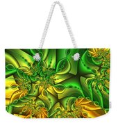 Fractal Gold And Green Together Weekender Tote Bag