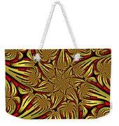 Fractal Golden And Red Weekender Tote Bag