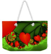 Fractal Hearts In The Discothec Weekender Tote Bag