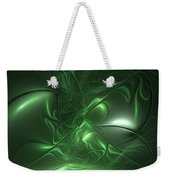 Fractal Living Green Metal Weekender Tote Bag