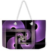 Fractal Purple Semicircles Weekender Tote Bag