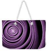 Fractal Purple Swirl Weekender Tote Bag