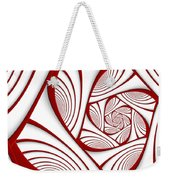 Fractal Red And White Weekender Tote Bag