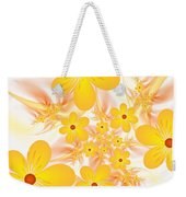 Fractal Yellow Flowers Weekender Tote Bag