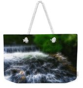 Fractalius - River Wye Waterfall - In Peak District - England Weekender Tote Bag