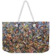 Fragmented Fall Weekender Tote Bag