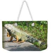 Framed Iguana Weekender Tote Bag