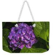Framed Purple Blue Hydrangea Blossom Weekender Tote Bag