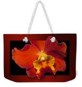 Framed Red Orchid  Weekender Tote Bag