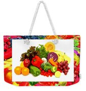 Framed Veggies Weekender Tote Bag