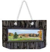 Framed-autumn In Vermont Weekender Tote Bag