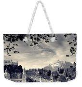 Framed View Of Salzburg From Kapuzinerberg Weekender Tote Bag