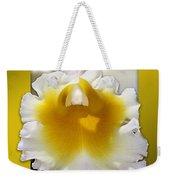 Framed White Orchid Weekender Tote Bag