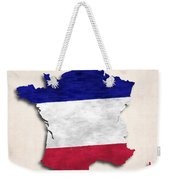 France Map Art With Flag Design Weekender Tote Bag