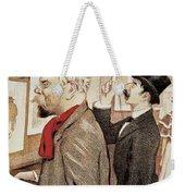 France Paris Poster Of Paul Verlaine And Jean Moreas Weekender Tote Bag