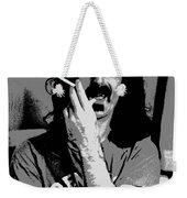 Frank Zappa - Chalk And Charcoal Weekender Tote Bag by Joann Vitali