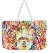 Frank Zappa Watercolor Portrait.1 Weekender Tote Bag