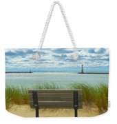Frankfort Lighthouse Front Row Seats Available Weekender Tote Bag
