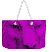 Frankie Lion Purple Weekender Tote Bag