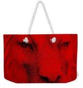 Frankie Lion Red Weekender Tote Bag