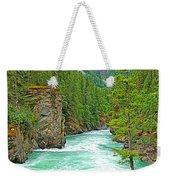 Fraser River Beyond Overlander Falls Along Yellowhead Highway-bc Weekender Tote Bag